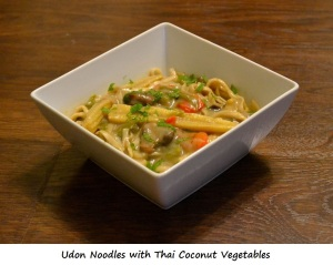 Day 6 Dinner - Udon Noodles with Thai Coconut Vegetables